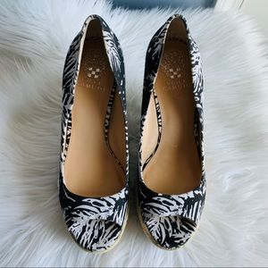 Vince Camuto Palm Tree Print Wedges